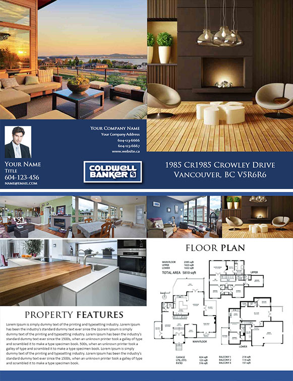 real estate feature sheet template free - feature sheet 4 pages template 03 realtorpapa